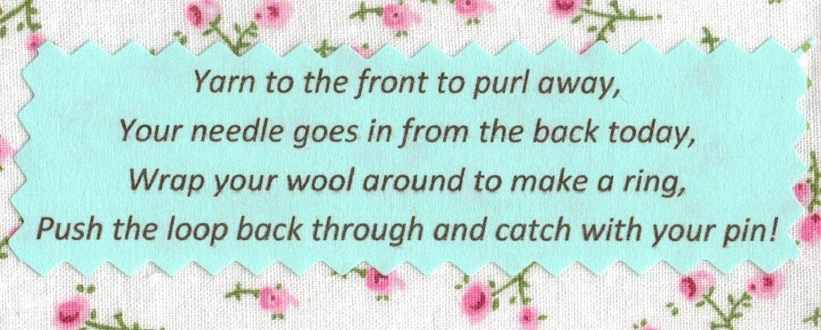 Knitting Rhyme Words : My purl rhyme
