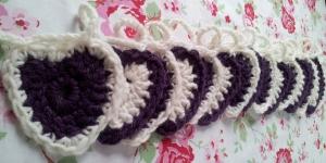 crochet hearts bunting