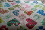 Be my Valentine quilt side view