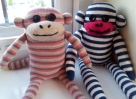 his and hers sock monkey