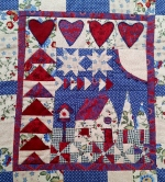 Welcome quilt main panel