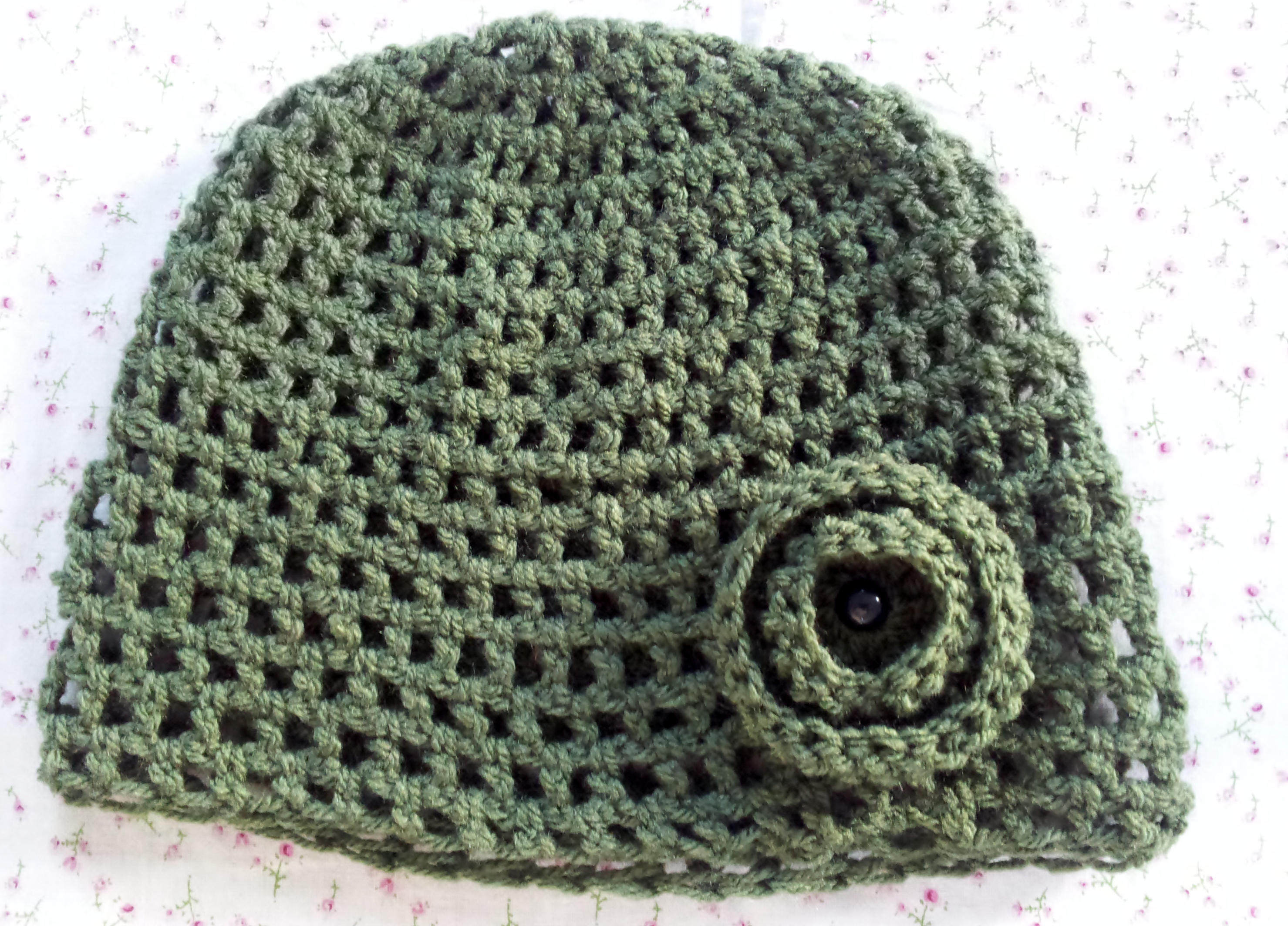 Easy Crochet Flower Patterns For Hats : How to make a Simple Crochet Hat ? Free Pattern ...