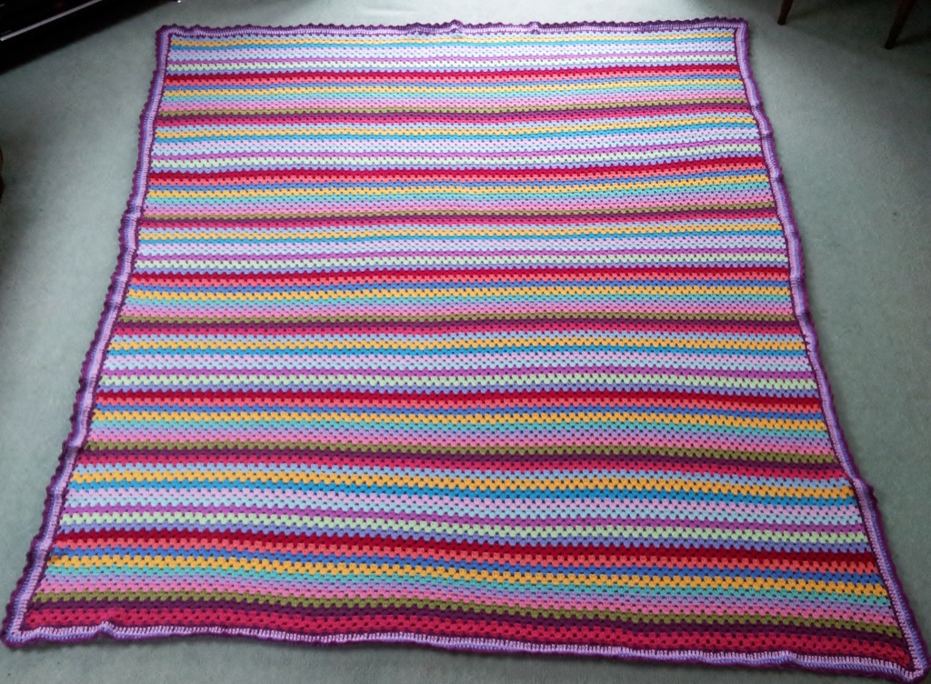 Attic 24 Granny Stripe Blanket And Edging Tried And