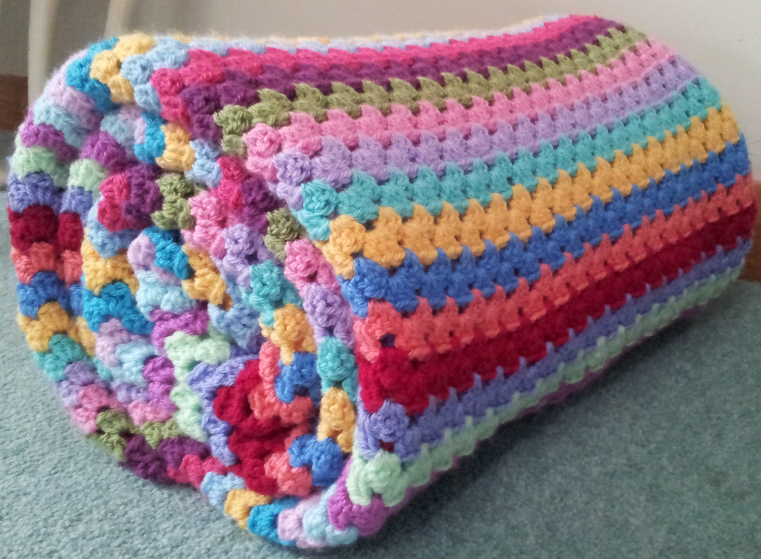 Granny Stripes Crochet Baby Blanket Pattern - Hot Girls ...