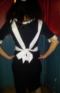 Back of tied apron