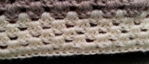 Finishing with a row double crochet