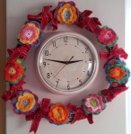 Flower Wreath Clock Frame