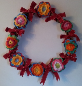 Wreath with Attic 24 flowers and Ribbon