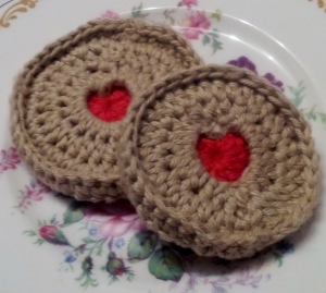Front of finished Jammy Dodgers