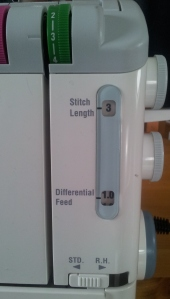 Normal overlock setting