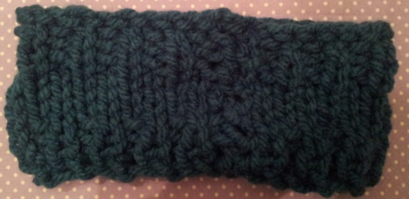 Sew up head warmer seam