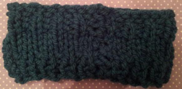 Sew up head warmer seam