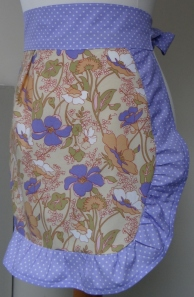 Lovely Lilac Mini Pinny with frill side view