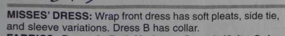 Dress description