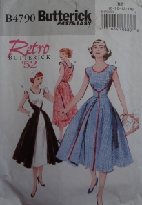 Front of first dress pattern