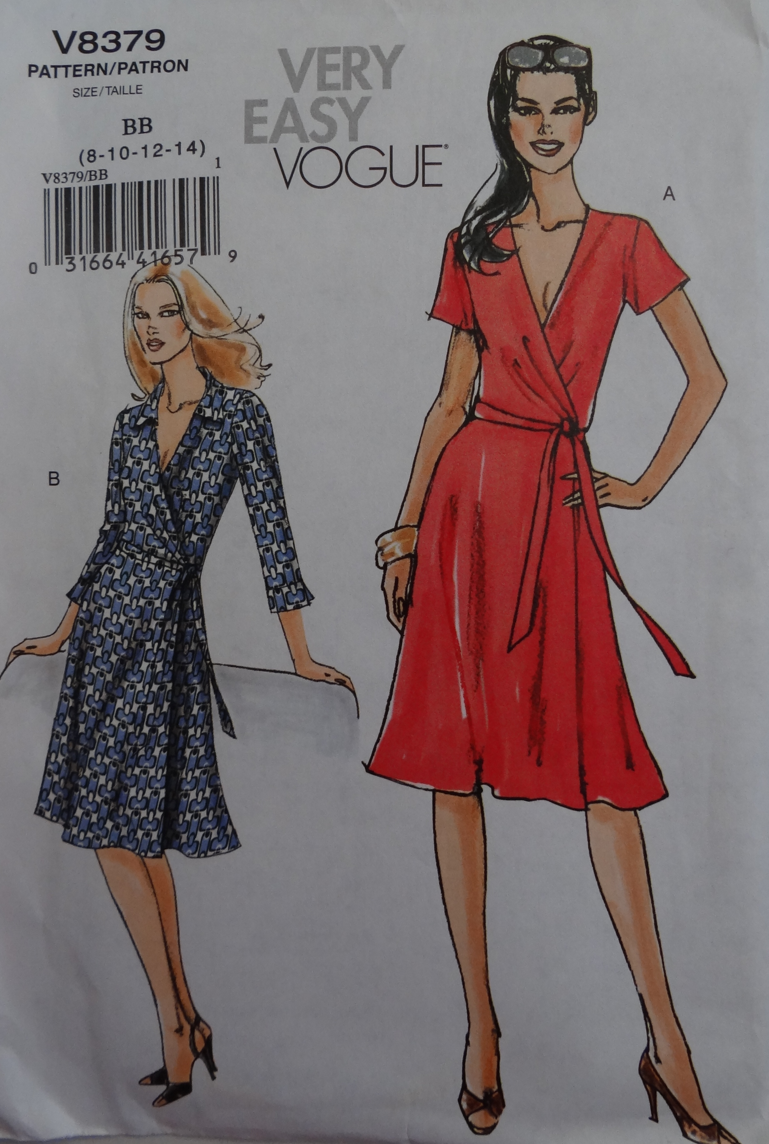 How to understand a sewing pattern envelope a beginners guide front of first dress pattern labelled very easy pattern jeuxipadfo Image collections