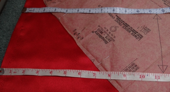 Measuring from Selvedge to Grain Line