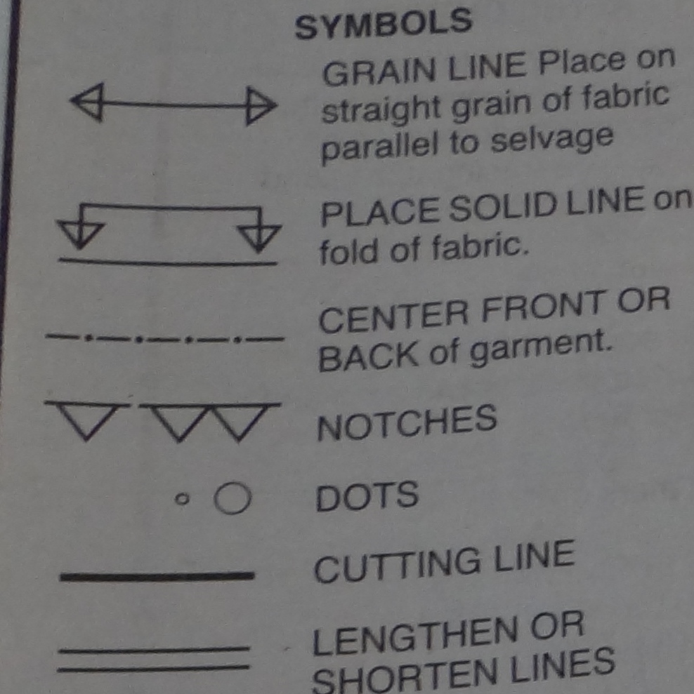 Getting to know your sewing pattern symbols a guide for pattern symbols pooptronica