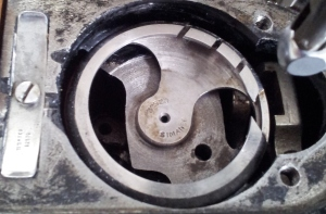 Inside of machine with Bobbin Case removed