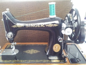 Cleaned machine ready to sew
