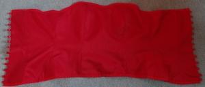 Corset red flat
