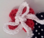 crochet flower and bow
