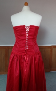 finished corset back