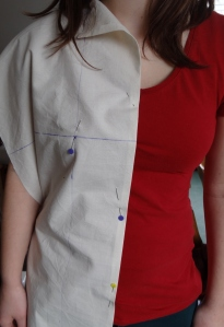 Pinning Toile through bust point