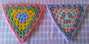 Block Pressed Crochet Bunting Triangles Attic 24