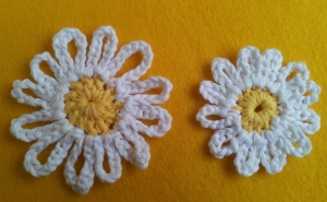 Large UK Treble and Smaller Uk Double Daisy