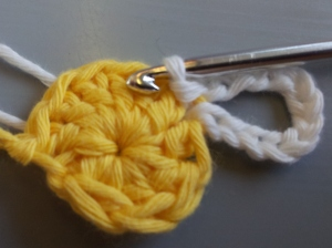 Slip Stitch into same chain space to form petal