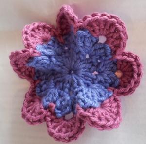 Crochet Flower Butterfly Shape