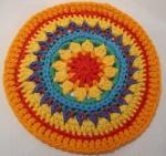Mandala Flower Crochet Clock round 9
