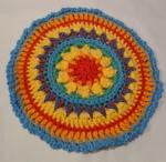 Mandala Flower Crochet Clock round 10