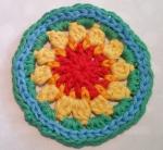 Mandala Flower Crochet Clock round 5