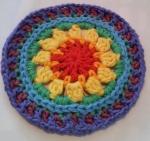 Mandala Flower Crochet Clock round 6a+b