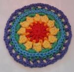 Mandala Flower Crochet Clock round 6a