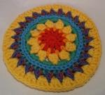 Mandala Flower Crochet Clock round 7