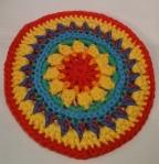 Mandala Flower Crochet Clock round 8