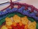 Mandala Flower Crochet Clock working round 6b