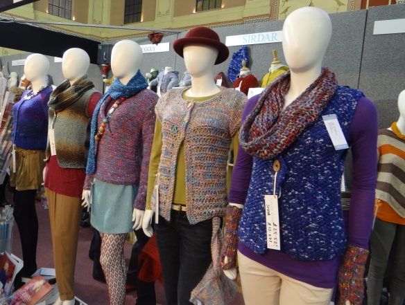 Knitted jumpers on manequins