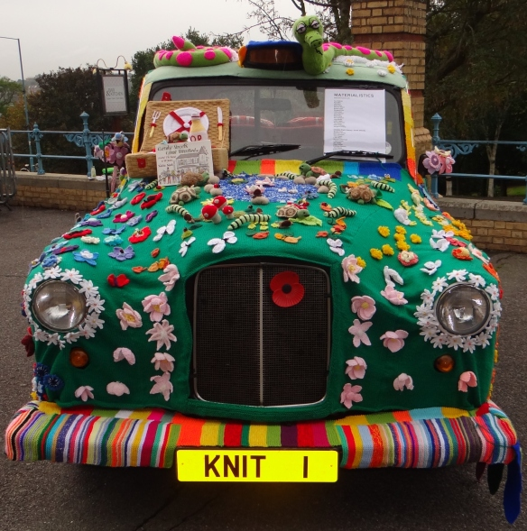 Yarn Bombed Car