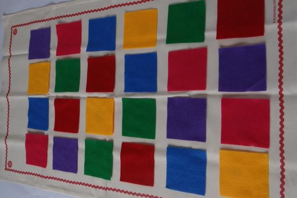 Arrange felt squares