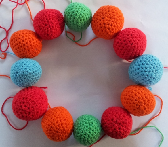 Arranging your crochet balls