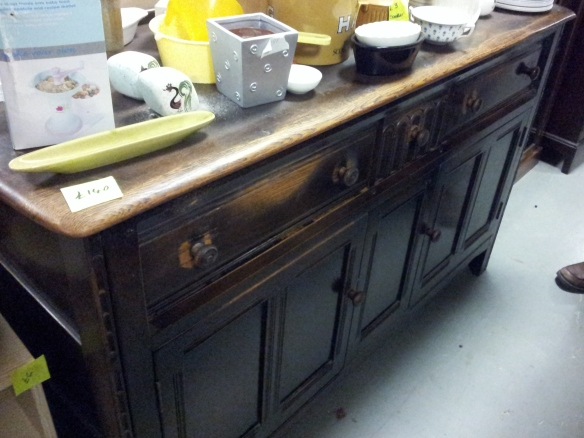 chairty shop find oak sideboard