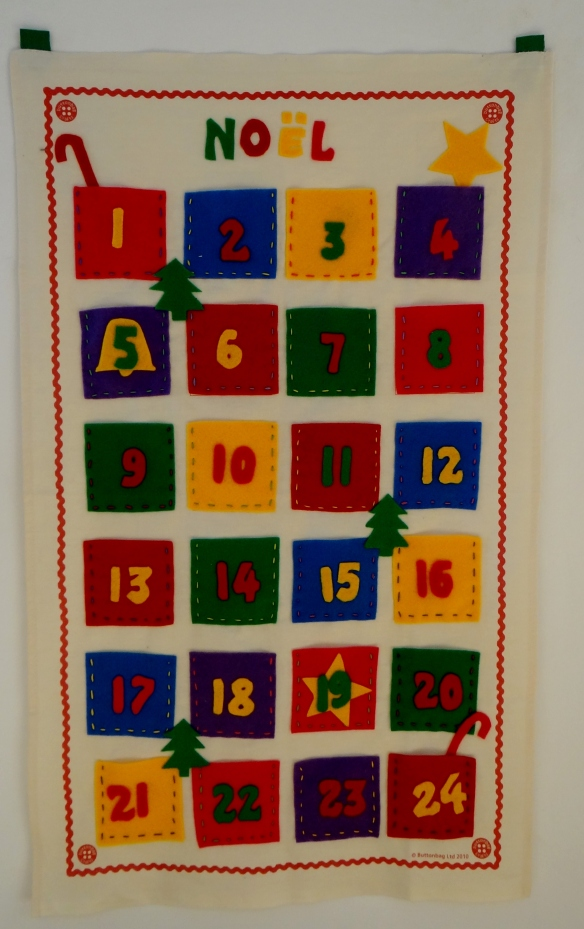 Christmas Advent Calendar Buttonbag John Lewis