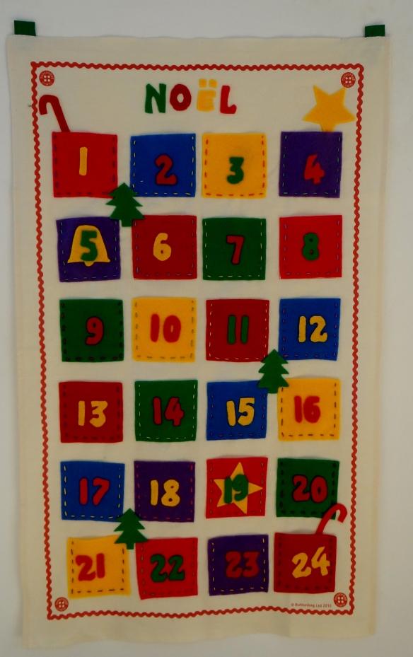 Christmas Advent Calendar Buttonbag John Lewis