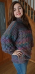 Finished Entrelac Jumper Shirley Sidar