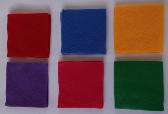 Felt Squares for Pockets
