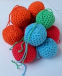 Stack of Christmas Crochet Balls